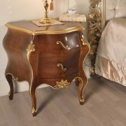 Classic Carved Wood Bedroom Night Table