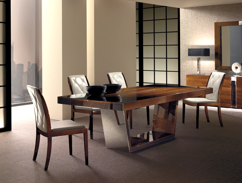 Martin daniel interiors dress contemporary dining collection for Dining table dressing
