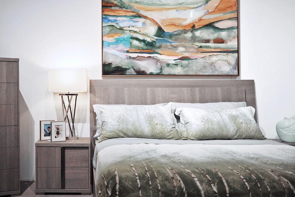 luxury modern wood bed