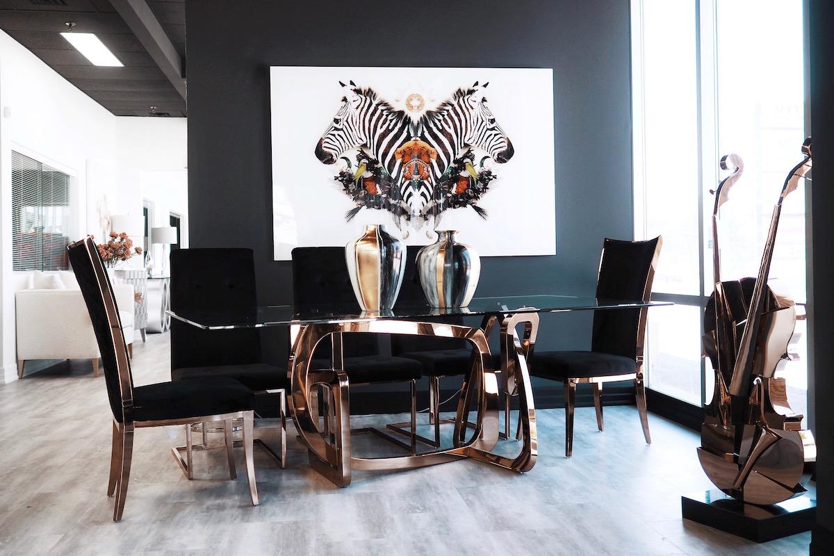 martin daniel interiors wall art Toronto home decor zebra